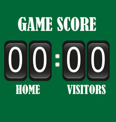 football soccer lacrosse black scoreboard vector image