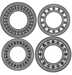 four ball bearing vector image