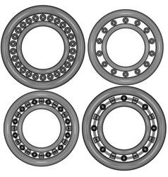 Four ball bearing vector