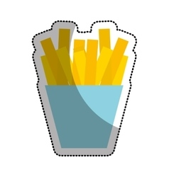 french fries potato isolated icon vector image
