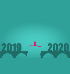 From 2019 to 2020 year vector