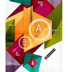 Futuristic abstract 3d infographic composition vector