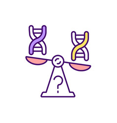 Genetic imbalance rgb color icon vector