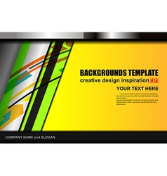 Geometric color background design vector