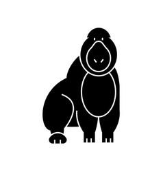 Gorilla icon sign o vector