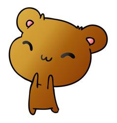 Gradient cartoon kawaii cute hamster vector