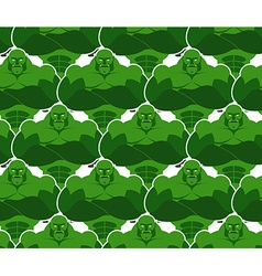 Green monsters seamless pattern Evil and powerful vector image