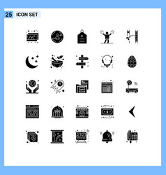 Group 25 solid glyphs signs and symbols vector