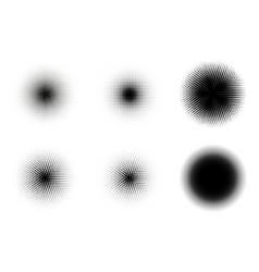 halftone circles set retro halftone vector image