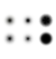 halftone circles set retro vector image