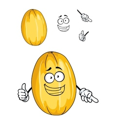 Happy ripe yellow melon fruit vector