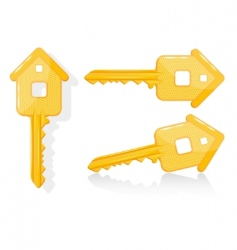 house key illustration vector image