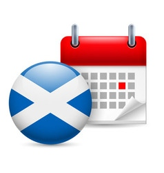 Icon of national day in scotland vector
