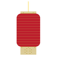 isolated chinese lamp chinese new year vector image