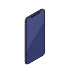 isometric smartphone isolated on white background vector image