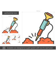 Jackhammer line icon vector