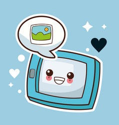 Kawaii tablet picture image vector