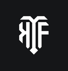 Kf logo monogram design template vector