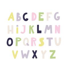 Latin alphabet in scandinavian vector
