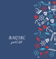 maritime colorful yacht club poster vector image