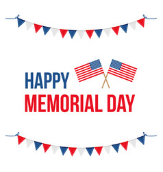 Memorial day card with national flag vector