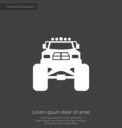 Monster car premium icon vector