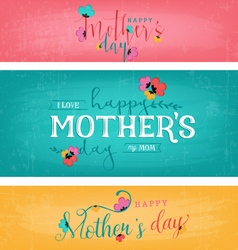 Mothers Day Design Elements for Greeting Cards vector
