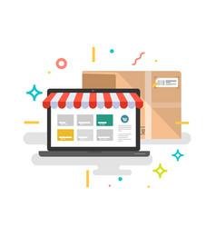 Online shop online delivery service vector