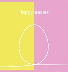 outline easter egg on yellow and red vector image