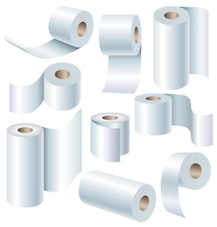 Paper roll set vector image