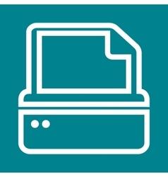 Printer V vector