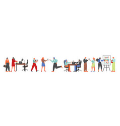 recruitment process people flat isolated vector image