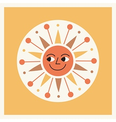 Retro style cartoon sun vector image