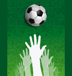 russian people together for russia soccer event vector image