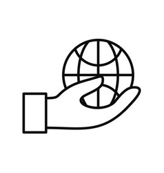 save globe energy icon outline style vector image
