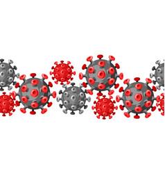 Seamless pattern with coronavirus molecule covid19 vector