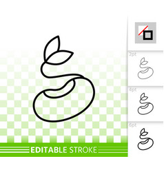 Seeds simple black line icon vector