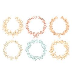 Set of winter wreaths vector image
