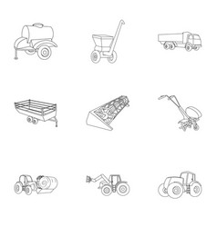 Set pictures about agricultural machinery cars vector
