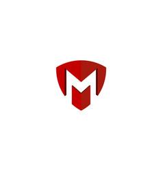 shield letter m logo icon design vector image
