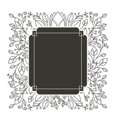 Silhouette rectangle heraldic with decorative vector
