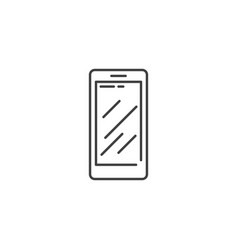 smartphone related line icon vector image