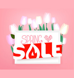 spring sale advertising banner banner with fresh vector image