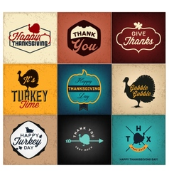 Thanksgiving Day Design Elements Cards Posters vector image