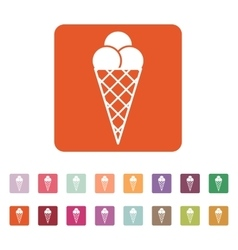 The ice-cream icon Ice cream symbol Flat vector image