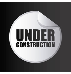 Under construction stamp isolated icon design vector