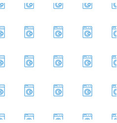Washing machine icon pattern seamless white vector