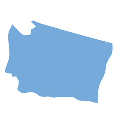 washington state map vector image