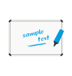 whiteboard text vector image