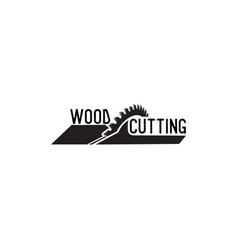 wood cutting vector image
